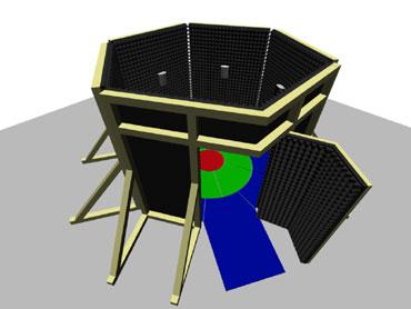 45-Grad Ansicht des fertigen Event-Raums