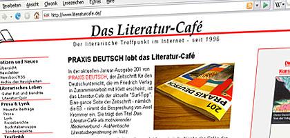 Screenshot von www.literaturcafe.de
